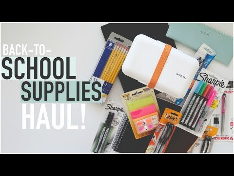 BACK TO SCHOOL SUPPLIES HAUL | University Student