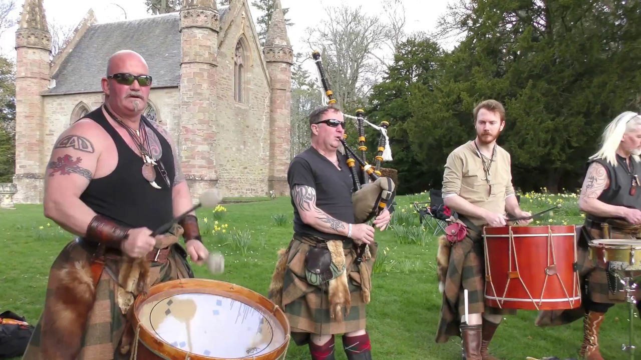 Download Scottish tribal band Clann an Drumma performing Bloodline album mix at Scone Palace, April 2017