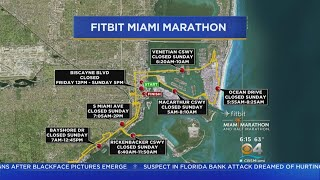 Road Closures For Fitbit Miami Marathon