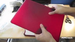 speck seethru satin red unboxing for for macbook pro 13 macbook aluminium unibody