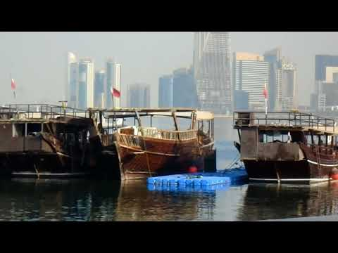 Amazing Boats in Cor-niche, Doha, Qatar, a wonderful boat to relax and enjoy