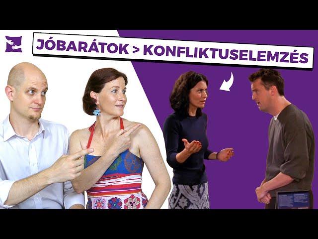 Jóbarátok – Konfliktuselemzés – Monica és Chandler Boldog PÁRna S02E26 Párkapcsolati tanácsok