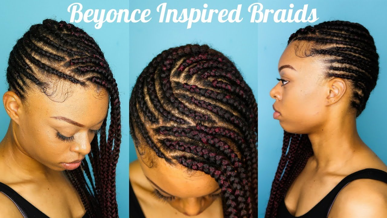 beyonce inspired braids | how to braid to the scalp