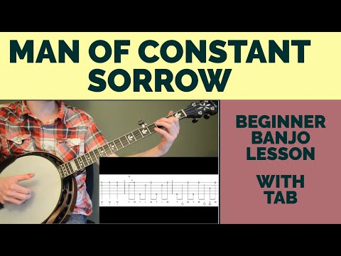 Man of Constant Sorrow Beginner Banjo Lesson