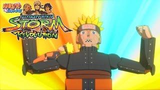 vuclip Naruto Storm Revolution Demo Mecha Naruto vs Bijuu Naruto 【HD】