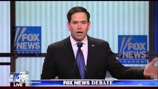 Rubio, moderators push back on Trump's policy assertions
