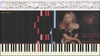Любимый - Ваенга Елена (Ноты и Видеоурок для фортепиано) (piano cover)