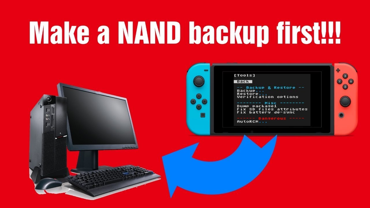 Make a NAND backup on the Nintendo Switch, Hekate | HOW TO  ニンテンドースイッチ改造:NANDバックアップの作成