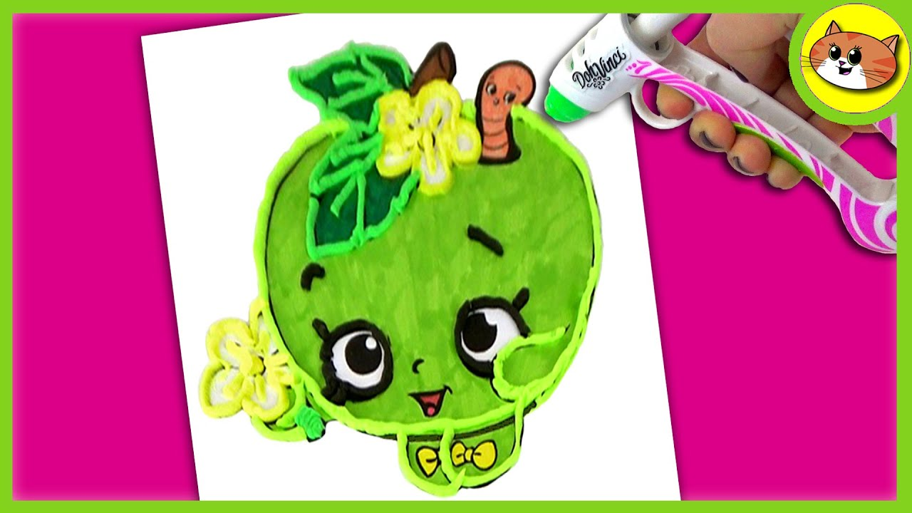dohvinci shopkins shopkin coloring pages apple blossom youtube