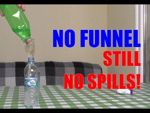 Makeshift funnels ideas. Pour/transfer lifehacks. Part 1
