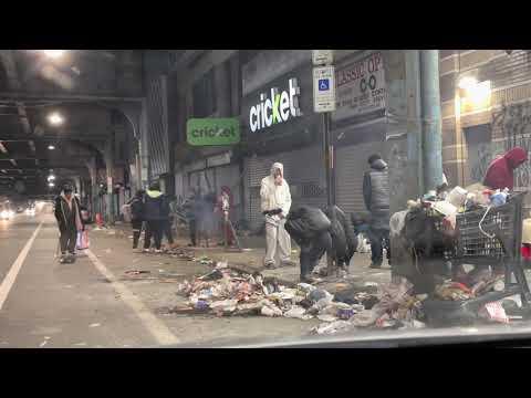 DEMOCRAT-RUN KENSINGTON AVE PHILADELPHIA AT NIGHT