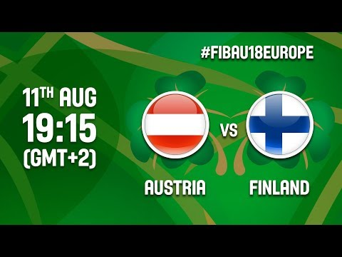 Austria v Finland - Full Game - Class 9-16 - FIBA U18 Women's European Championship 2017 - DIV B