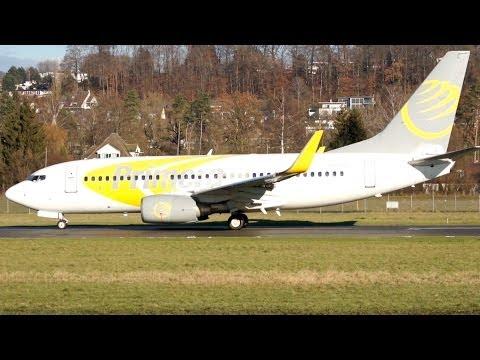 Boeing 737-7Q8 of Primera Air Scandinavia Take Off at Airport Bern-Belp