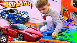 Hot Wheels racing cars toys for kids 🚗 Playing with Hot Wheels cars and Tracks for kids
