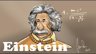 3 STEPS DRAWING - cartoony ALBERT EINSTEIN *