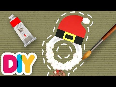 Fast-n-Easy | Santa Mask 🎅🏽 Paper Plate Craft | DIY Arts & Crafts for Parents