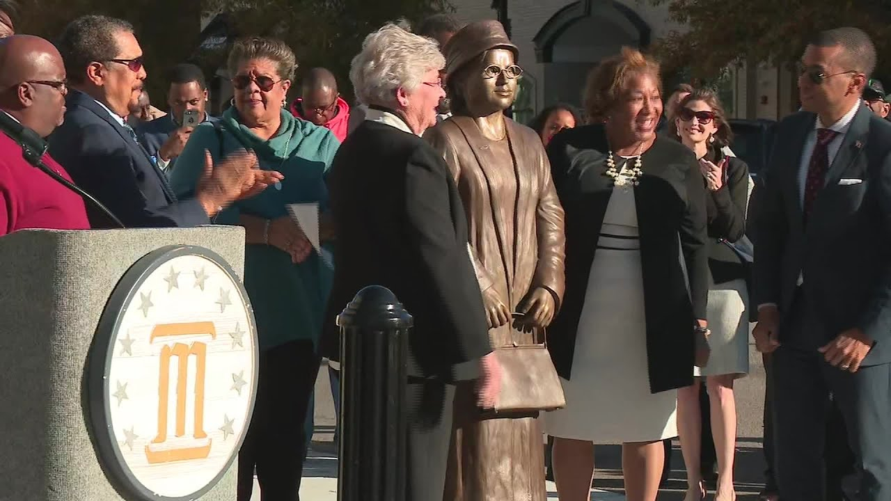 Rosa Parks honored with a statue in Montgomery, Alabama
