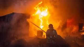 Огонь, вода, пластиковые трубы и спасенный кот - пожар, Новосибирский район, дп Мочище