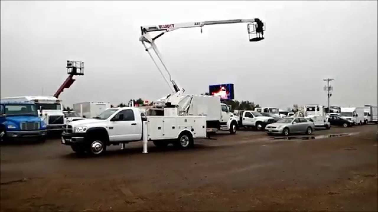 Dodge Ram 5500 >> 2008 Dodge Ram 5500 Elliot Manlift Bucket Truck - YouTube