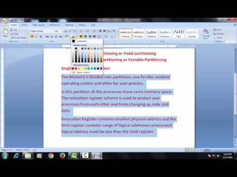 Types of Memory partitioning (Static partitioning) Lecture #22