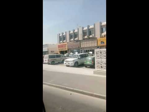 Driving through Al Waab streets.Doha Qatar