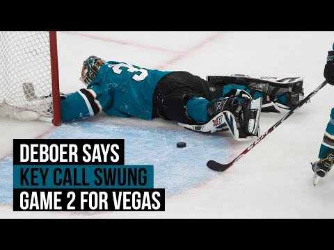 Sharks post-game video: DeBoer discusses call that flipped Game 2