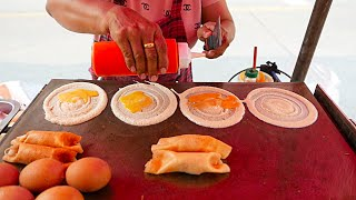 Bangkok Street Food - Hot Dog And Crab Crepes