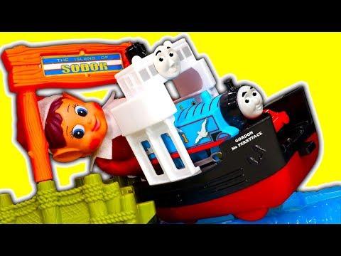 Thomas Trackmaster Boat & Sea Set Toy Review Gordon McFerryface Upgrade