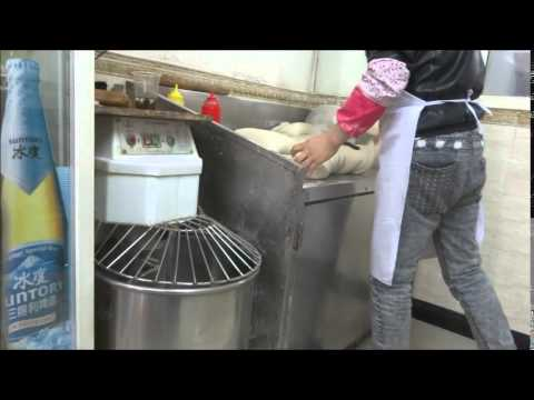 Hand-made noodles at a Muslim noodle shop in Xuhui Shanghai 3-2-2015