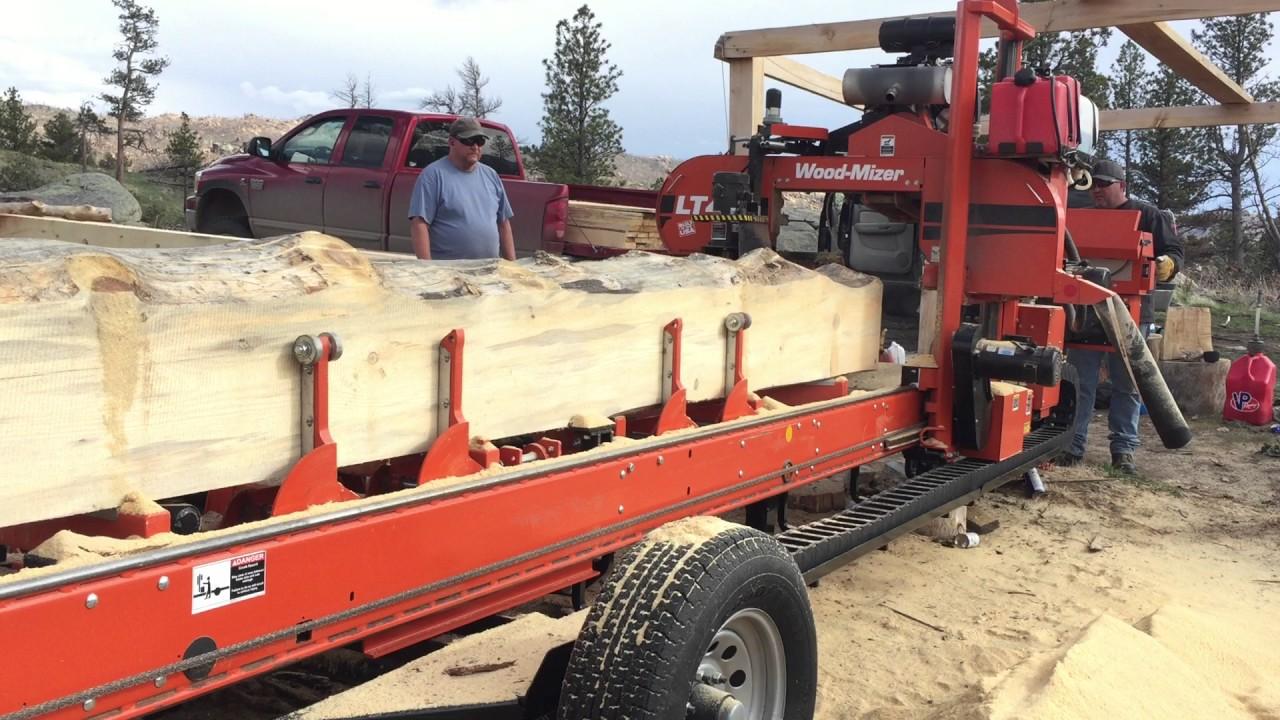 LT40 Wood Mizer cutting Lumber | Tim's Mill
