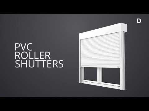 DRUTEX external PVC roller shutters