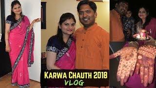 Karwachauth Vlog 2018 | Mehandi, Makeup, Sargi, Cooking | Indian Festivals In USA | Real Homemaking