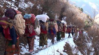 the way into the snow || Nepal || himalayan life || village life ||