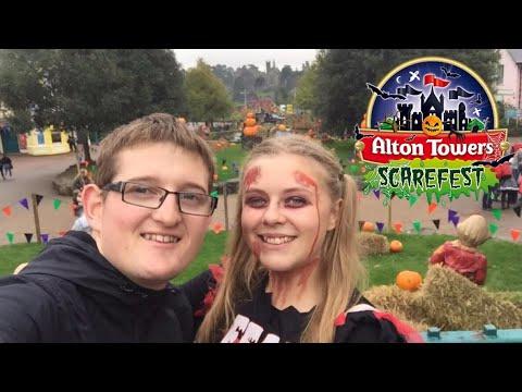 Alton Towers Scarefest Vlog 23rd October 2017