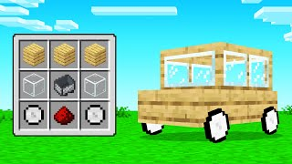 CRAFTING A CAR In Minecraft!