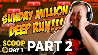 PART 2, SUNDAY MILLY DEEP RUN, INSANE SCOOP DAY 1!!! PokerStaples Stream Highlights May 7th, 2017