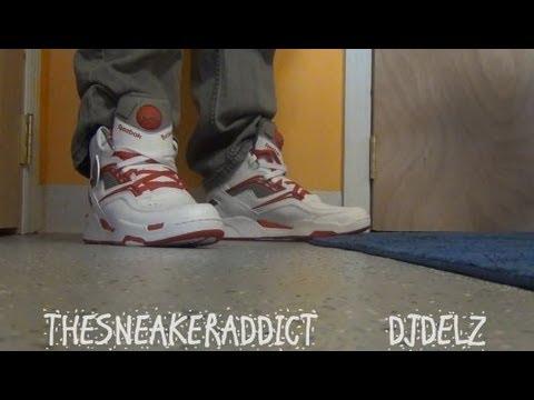 58ec9974477 Reebok Twilight Zone Pump Wilkins Home Sneaker Review With  DjDelz Plus On  Feet