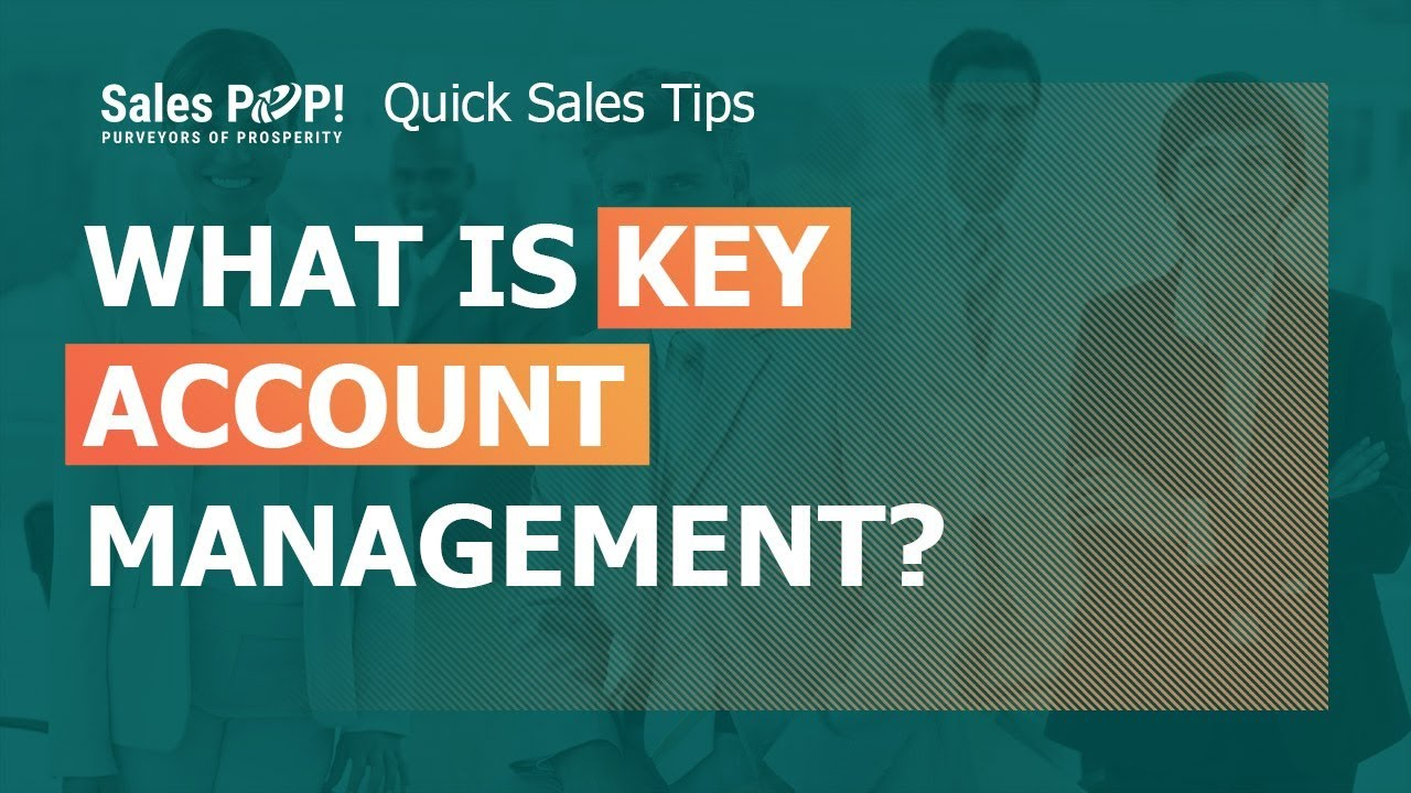 an introduction to the management of key account programs Why should you start a key account management program key accounts are 60 to 70% likelier despite the potential benefits of key account management to your bottom line, it's not a good fit for to provide value to the account and find mutually beneficial opportunities, you need an in-depth.