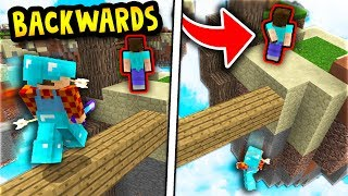 BACKWARDS NOOB SKIN TROLL! (Minecraft Skywars Trolling)