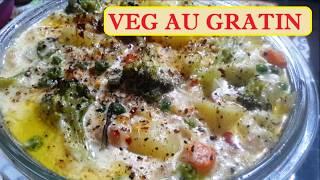 Easy Veg Au Gratin Recipe | Kyra's Cooking for Kids | Italian Food Recipes |