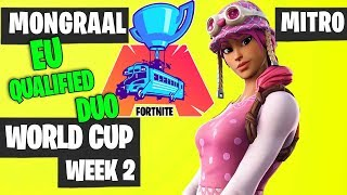 Mongraal and Mitro Fortnite World Cup Week 2 Highlights [Fortnite Tournament 2019]