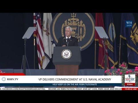 U.S. Naval Academy Class of 2017 Graduation w/ Vice President Pence Commencement Speech 5/26/17