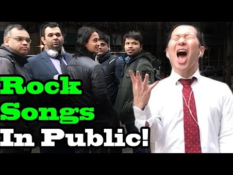 SINGING IN PUBLIC - ROCK SONGS TRIBUTE!! (Guns n roses, Bon Jovi, AC DC, Whitesnake and more)