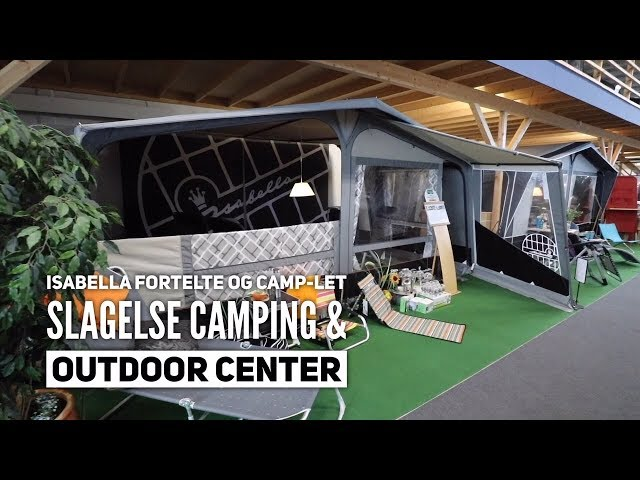 Isabella fortelte og Camp-Let hos Slagelse Camping & Outdoor Center