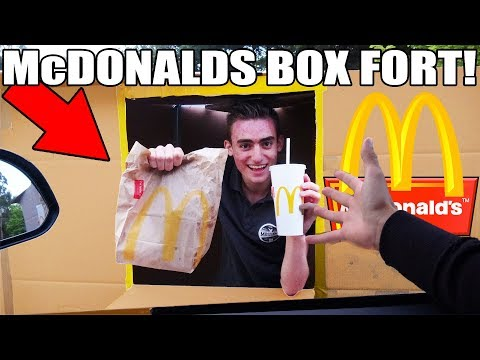 Download Youtube: McDONALDS BOX FORT CHALLENGE!! 📦🍔 (FAST FOOD RESTURANT!)