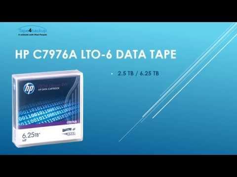 HP C7976A LTO-6 Data Backup Tape (2.5TB/6.25TB)