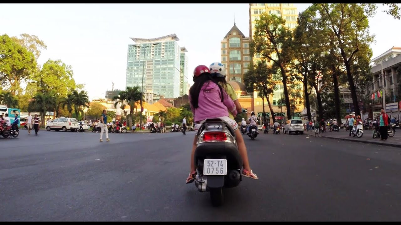 2014 Downtown Saigon Ho Chi Minh City Motorbike Ride YouTube