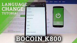 How to Change Language in Bocoin K800 – Language Settings