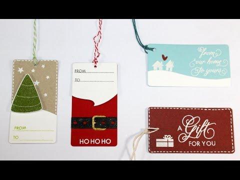 christmas gift tags - YouTube