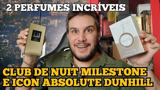 Club de Nuit Milestone (clone do Creed Millesime Impérial) e Icon Absolute Dunhill The King Of Tester ...